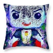 Dracula Pop Throw Pillow by Al Matra