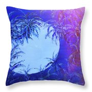 Dream By The Tropical Moon Throw Pillow