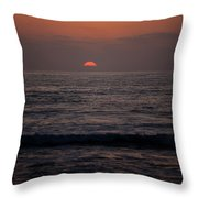 Dreamcicle Sunset Throw Pillow