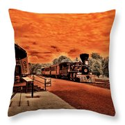 Dreaming Of Lincoln's Train Throw Pillow