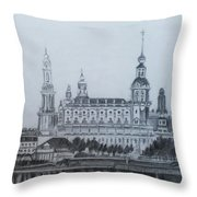 Dresden Cathedral- Dresden Throw Pillow