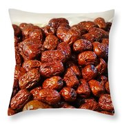 Dried Chinese Red Dates Throw Pillow