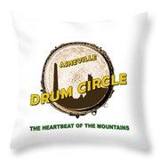 Drum Circle Logo Throw Pillow