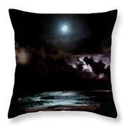 Drummer's Moon Throw Pillow