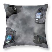 Dslr Cameras Throw Pillow