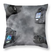 Dslr Cameras Throw Pillow