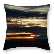 Dual Sunstars At Nipple Bench Sunrise Throw Pillow