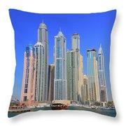 Dubai Marina Dubai Uae Throw Pillow