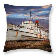 Duke Of Lancaster Ship Throw Pillow