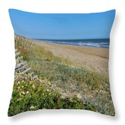 Dunes Wooden Fence Throw Pillow