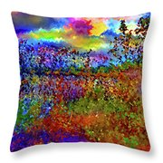 Dusk Someplace Else Throw Pillow