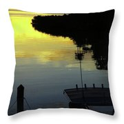 Dusky At Sunset, And A Palm Tree Throw Pillow