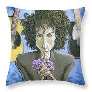 Dusky Resolution - Bob Dylan Throw Pillow