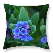 Dwarf Bluebell Detail Throw Pillow