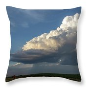Dying Thunderstorms At Sunset 006 Throw Pillow