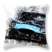 E-type Racing Throw Pillow