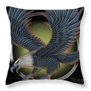 Eagle Illustration  Throw Pillow