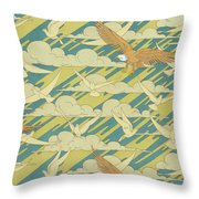 Eagles And Pigeons Throw Pillow