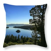 Early Morning Emerald Bay Throw Pillow
