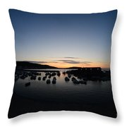 Early Morning Lyme Regis Throw Pillow