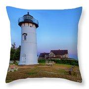 East Chop Lighthouse Throw Pillow by Mark Miller
