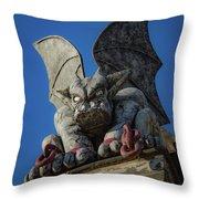 Eastern State Gargoyle Throw Pillow by Lora J Wilson