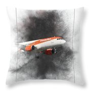Easyjet Airbus A319-111 Painting Throw Pillow