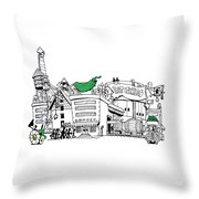 Eat Pickles Throw Pillow