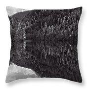 Echo Lake Reflection Black And White Throw Pillow