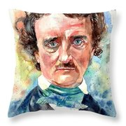 Edgar Allan Poe Portrait Throw Pillow