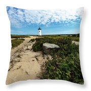 Edgartown Lighthouse Marthas Vineyard Throw Pillow