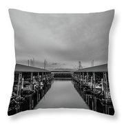 Edmonds Marina Throw Pillow