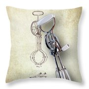 Eggbeater With Antique Eggbeater Patent Throw Pillow