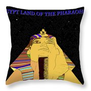 Egyptian Night Travel Poster A Throw Pillow