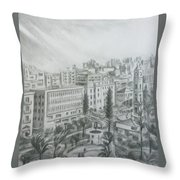 El Mansheya Park - Tripoli Throw Pillow