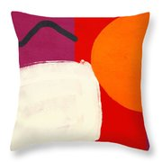 Elation 3- Abstract Art By Linda Woods Throw Pillow