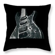 Electric Guitar Musician Player Metal Rock Music Lead Black Throw Pillow