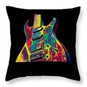 Electric Guitar Musician Player Metal Rock Music Lead Throw Pillow