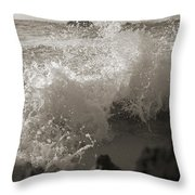 Elegant Coastal Splash Bermuda Throw Pillow