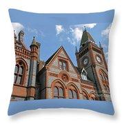 Elegant In Brick And Grey Throw Pillow