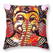Elephant Face Throw Pillow
