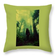 Elf With Halo Throw Pillow