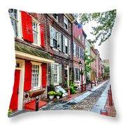 Elfreths Alley Throw Pillow
