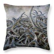 Elk Antlers Digital Art Throw Pillow