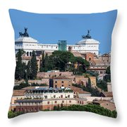 Emanuele II Monument Throw Pillow