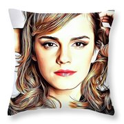 Emma Watson Throw Pillow