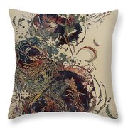 Empty Nest II Up And Out Throw Pillow