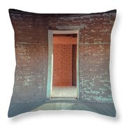 Empty Old Brick House Grafton Ghost Town Throw Pillow