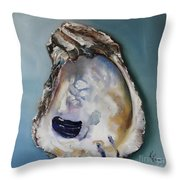 Empty Oyster Shell Throw Pillow