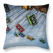 Empty Swings Throw Pillow